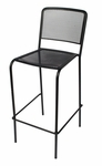 Chesapeake Black Stackable Outdoor Micro Mesh Barstool [SU1300BBL-BFMS]