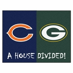 Chicago Bears - Green Bay Packers House Divided Mat 34'' x 45'' [8461-FS-FAN]