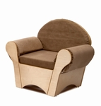 Child Easy Chair with Soft and Durable Textured Fabric [WB0845-FS-WBR]