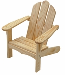American Made Outdoor Child's Adirondack Chair - Unfinished [140-UNF-FS-LC]