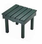 American Made Outdoor Child's Adirondack End Table - Green [142-GRN-FS-LC]