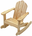 American Made Outdoor Child's Adirondack Rocking Chair - Unfinished [141-UNF-FS-LC]