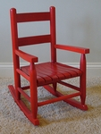 Child's Wooden Rocking Chair with Slat Seat [25-FS-DIX]