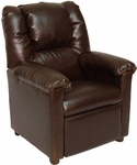 Kids Lounge Recliner- Brown Vinyl [S4199-FS-BZ]