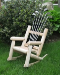 Childrens Golf Club Log Rocker [CLDLROCKGOLF-FS-ISK]