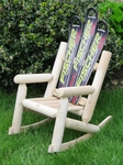 Childrens Snow Ski Log Rocker [CHDLROCKBKFISH-FS-ISK]