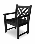 POLYWOOD® Chippendale Collection Arm Chair - Black [CDB24BL-FS-PD]