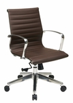 OSP Furniture Eco Leather Mid Back Office Chair with Locking Tilt - Chocolate [74618LT-FS-OS]