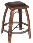 Chocolate Leather Stool [818C24-FS-2DAY]