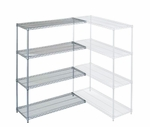 63''H Chrome-Plated Wire Shelving Add-On Kit [272646-WES]