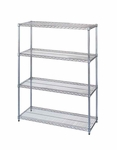 63''H Chrome-Plated Wire Shelving Starter Kit [272640-WES]