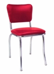 Chrome Side Chair Upholstered Seat and Back - Grade 5 Vinyl [22-GR5-SAT]