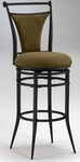 Cierra Metal 30''H Bar Stool with Bear Microfiber Swivel Seat - Black [4592-832-FS-HILL]