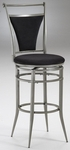 Cierra Metal 30'' Bar Height Stool with Black Faux Suede Swivel Seat - Pewter [4903-830-FS-HILL]
