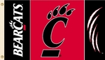 Cincinnati Bearcats 3' X 5' Flag with Grommets [95140-FS-BSI]