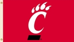 Cincinnati Bearcats 3' X 5' Flag with Grommets - Logo Design [95240-FS-BSI]