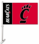 Cincinnati Bearcats Car Flag with Wall Brackett [97140-FS-BSI]