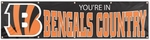 Cincinnati Bengals 8' x 2' Banner ''You're in Bengals Country'' [BBEC-FS-PAI]
