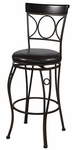 Circles Back 24''H Swivel Stool [02730MTL-01-KD-U-FS-LIN]