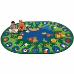 Circletime Garden of Eden and Animals Rug [82006-FS-CAP]