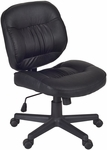 Cirrus Height Adjustable Armless Task Chair with Casters - Black Vinyl [2510BK-FS-REG]