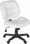 Cirrus Height Adjustable Armless Task Chair with Casters - White Vinyl [2510WH-FS-REG]