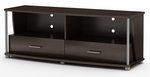 City Life Collection 2-Drawer TV Stand Chocolate [4219662-FS-SS]