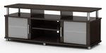 City Life Collection 59''W TV Stand Chocolate [4219677-FS-SS]