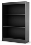 City Life Collection Shelf Bookcase in Black [7270766-FS-SS]