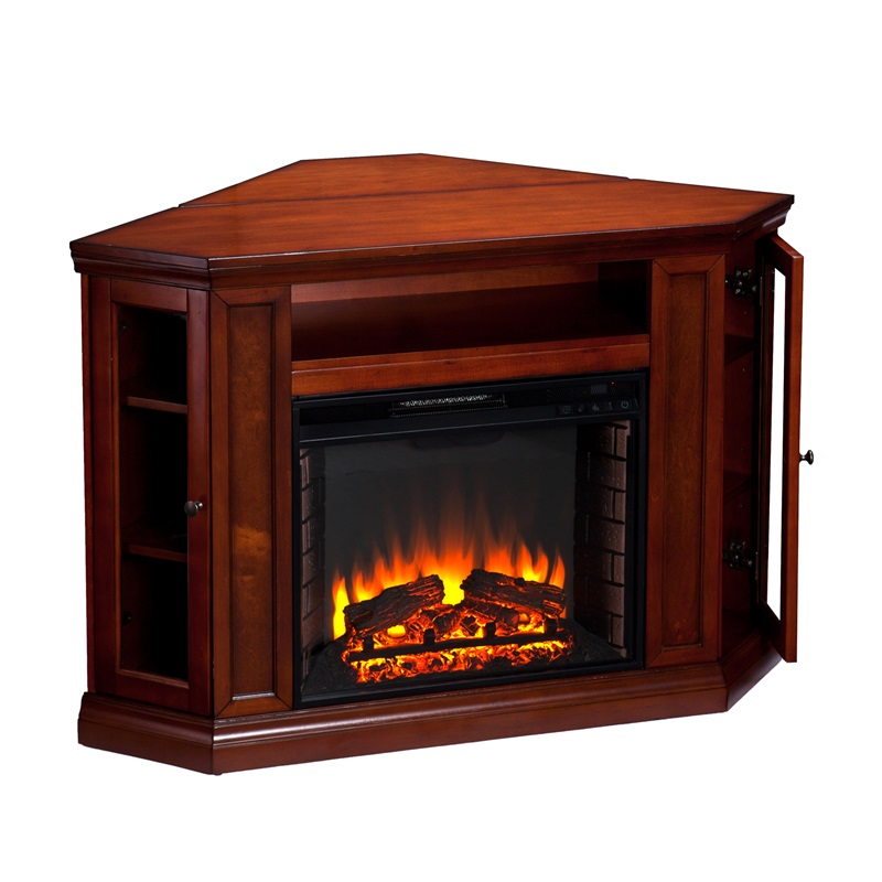 Claremont Corner Convertible Media Center With Glass