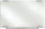 Clarity 48'' W x 36'' D Dry Erase Board - Glass with Aluminum Trim [31140-ICE]