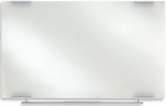 Clarity 60'' W x 36'' D Dry Erase Board - Glass with Aluminum Trim [31150-ICE]