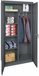 Classic Series 36'' W x 18'' D x 72'' H Combination Storage Cabinet with Adjustable Shelves - Charcoal [CAC1-361872-02-EEL]