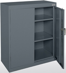 Classic Series 36'' W x 18'' D x 42'' H Counter Height Cabinet with Adjustable Shelves - Charcoal [CA21-361842-02-EEL]