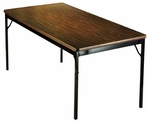 Customizable Classic Fixed Height Folding Training Table - 18''W x 60''D x 30''H [CL1860-BKS]