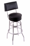 Classic 27'' Chrome Finish Counter Height Swivel Stool with Black Vinyl Seat and Back [C7C425BLKVINYL-FS-HOB]