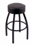 Classic 25'' Black Finish Counter Height Swivel Stool with Black Vinyl Seat [C8B125BLKVINYL-FS-HOB]