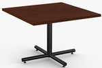 ClassiX 1 Day Quick Ship 42'' x 42'' Square Breakroom Table with Single Column X-Base [1D-CLSX-4242-SPT]