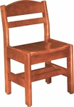 Classmate Armless 14''H All Wood Kid Chair [54A-O-FS-CMF]