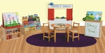 Classroom Healthy Kids Plywood Literacy Package with Tuff-Gloss UV Finish - Set of 6 [99922-WDD]
