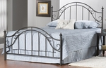 Clayton Metal Post Bed Set with Rails - Full - Matte Brown [1681BFR-FS-HILL]