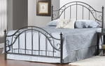 Clayton Metal Post Bed Set with Rails - King - Matte Brown [1681BKR-FS-HILL]