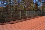 Outdoor UV-Resistant 15'W x 36.00''H Flexible Deck Shield - Clear [DS15C-FS-CRD]