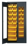 Clear-View Security Bin Cabinet with 18 Bins - Yellow [QSC-C250-YL-QSS]