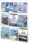 Clear2c™ Six Magazine and Six Pamphlet Display with Break Resistant Plastic Pockets - Clear [5668CL-FS-SAF]