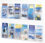 Clear2c™ Twelve Pamphlet Display with Break Resistant Plastic Pockets - Clear [5671CL-FS-SAF]
