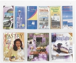 Clear2c™ Three Magazine and Six Pamphlet Display with Break Resistant Plastic Pockets - Clear [5666CL-FS-SAF]