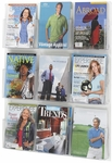 Clear2c™ Nine Magazine Display with Break Resistant Plastic Pockets - Clear [5665CL-FS-SAF]