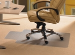 36''W x 48''L Cleartex Advantagemat Chairmat with Lip for Medium Pile Carpets up to .75'' [119230LV-FS-FTX]