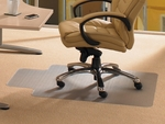 45''W x 53''L Cleartex Advantagemat Chairmat with Lip for Standard Pile Carpets .375'' or less [11341526LV-FS-FTX]